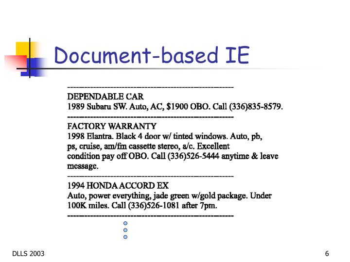 Document-based IE