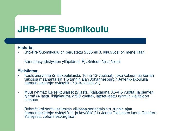 Jhb pre suomikoulu