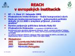 reach v evropsk ch instituc ch