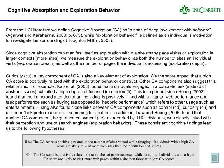 Cognitive Absorption and Exploration Behavior