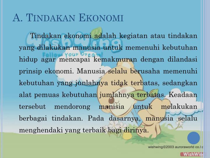 A tindakan ekonomi