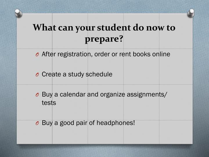 What can your student do now to prepare?