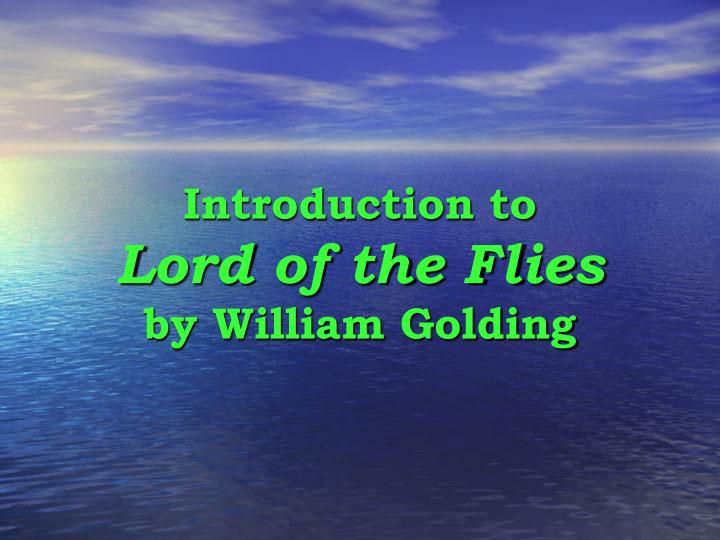 lord of the flies essay intro Essays - largest database of quality sample essays and research papers on lord of the flies introduction.