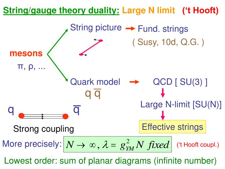 String/gauge theory duality: