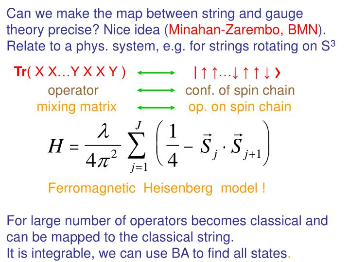 Can we make the map between string and gauge