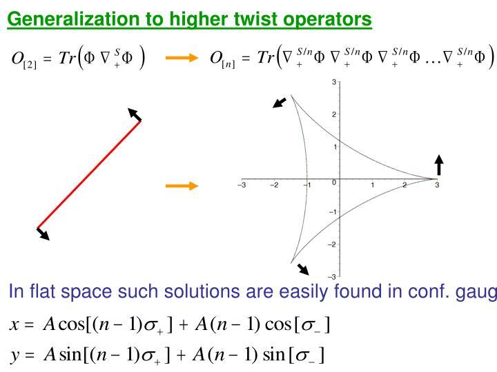 Generalization to higher twist operators