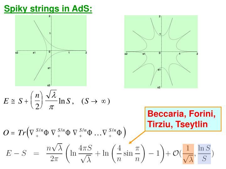 Spiky strings in AdS: