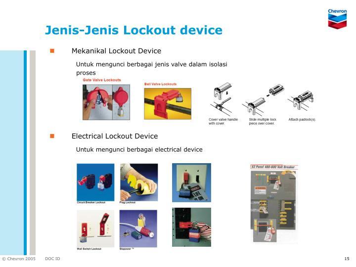 Jenis-Jenis Lockout device