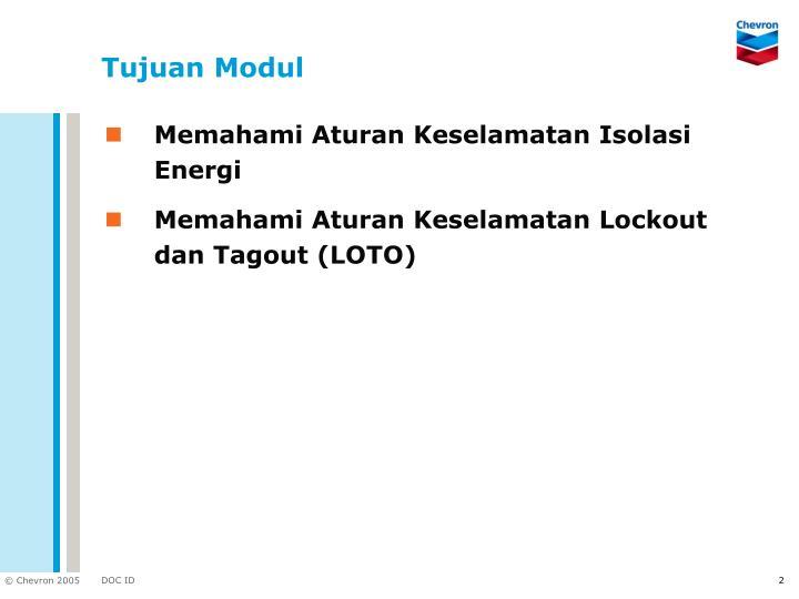 Tujuan modul