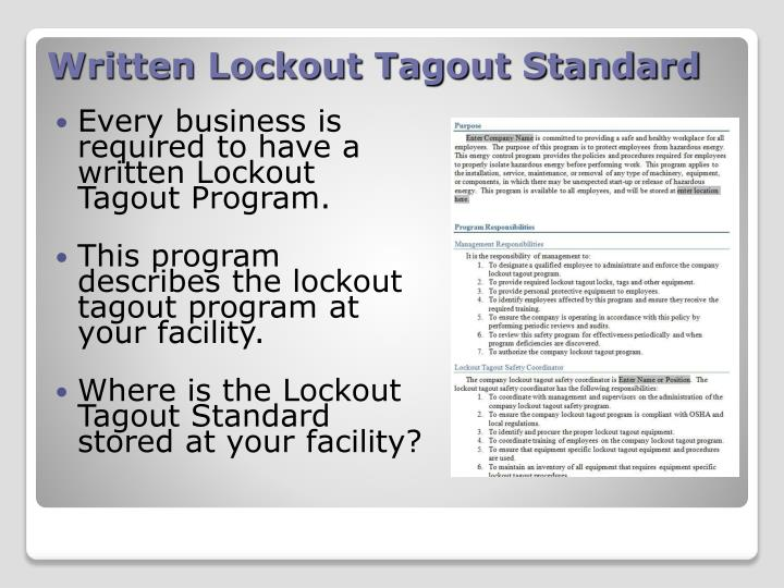 Enchanting Lockout Tagout Program Template Embellishment - Examples ...