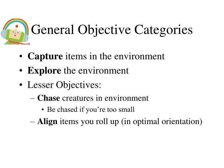 General Objective Categories