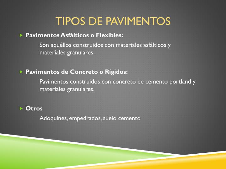 ppt pavimentos flexibles y r gidos powerpoint
