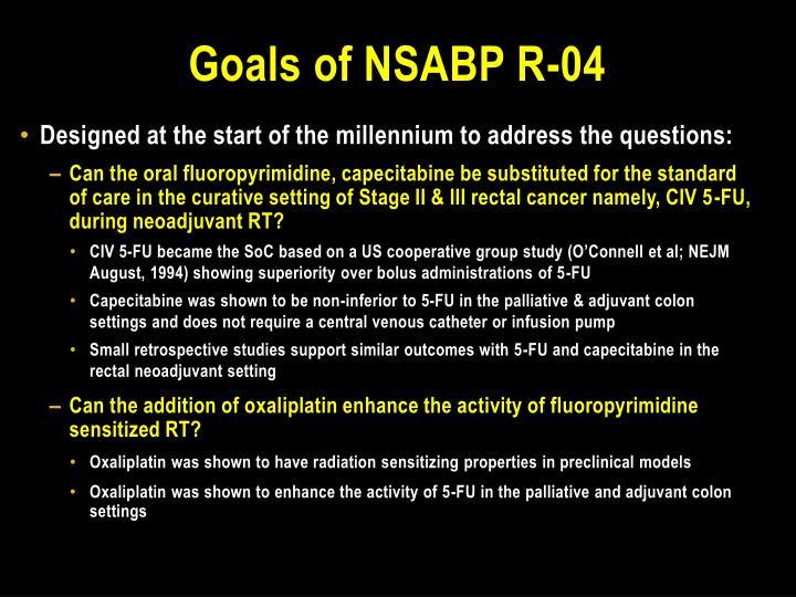 Goals of nsabp r 04