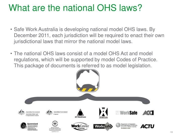 What are the national OHS laws?
