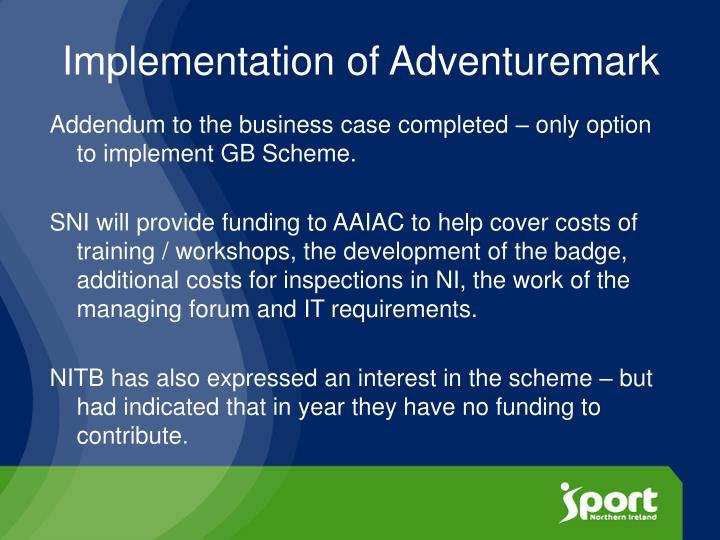 Implementation of Adventuremark