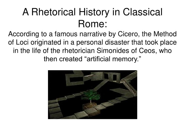 A Rhetorical History in Classical Rome: