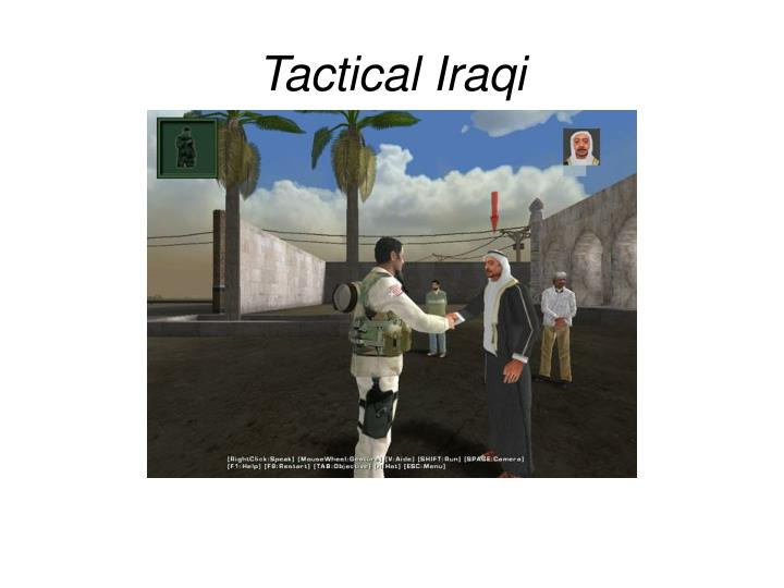 Tactical Iraqi