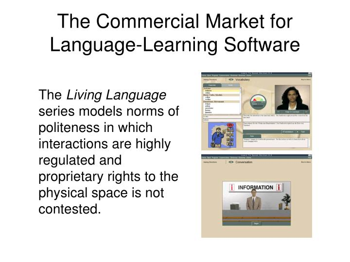 The Commercial Market for Language-Learning Software