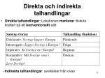 direkta och indirekta talhandlingar