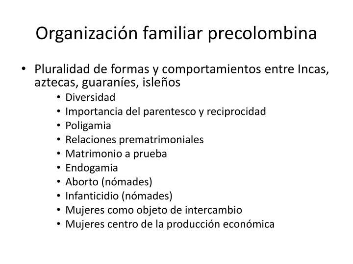 Organizaci n familiar precolombina