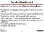 beamline development