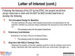 letter of interest cont