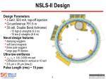 nsls ii design
