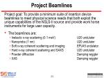 project beamlines