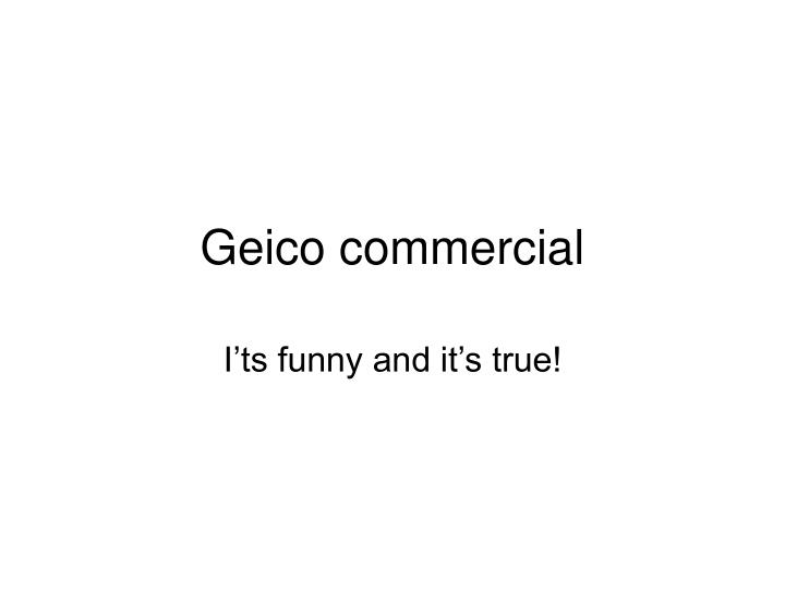 geico commercial n.
