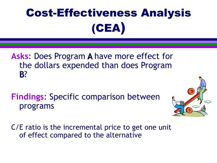 Cost-Effectiveness Analysis (CEA