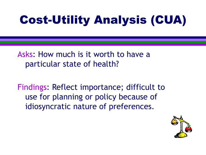 Cost-Utility Analysis (CUA)
