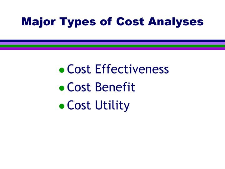 Major Types of Cost Analyses