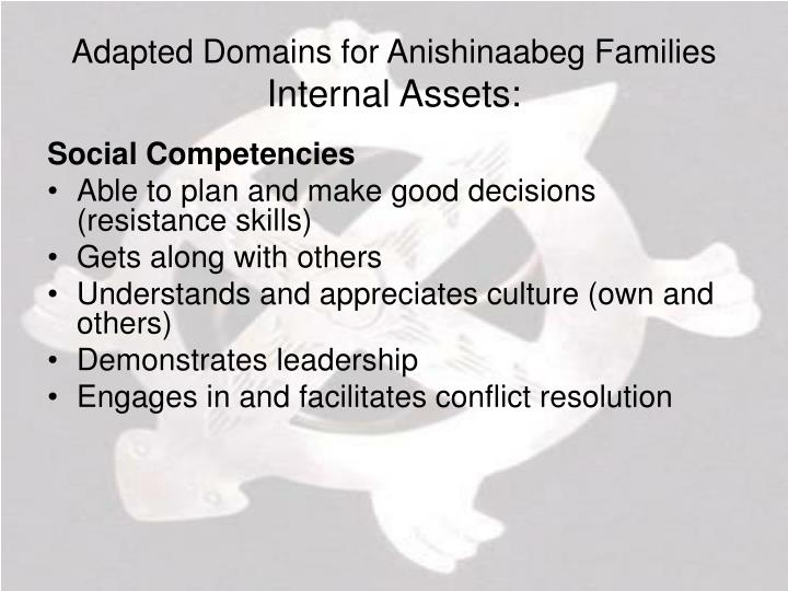 Adapted Domains for Anishinaabeg Families