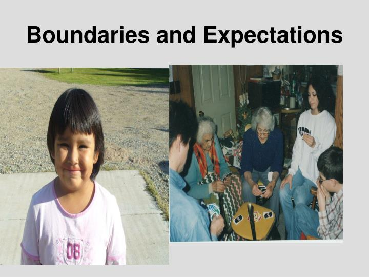 Boundaries and Expectations