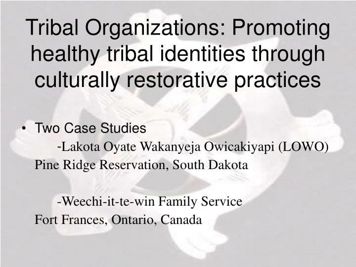 Tribal Organizations: Promoting healthy tribal identities through culturally restorative practices