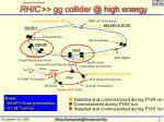rhic gg collider @ high energy