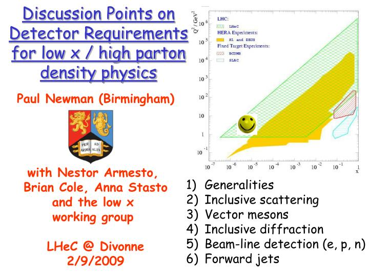 PPT - Discussion Points on Detector Requirements for low x