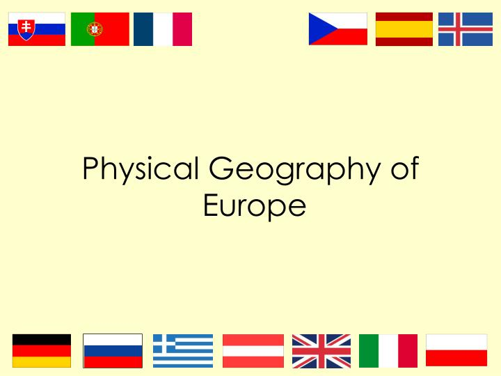 physical geography of europe n.