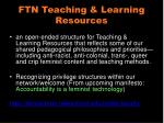 ftn teaching learning resources