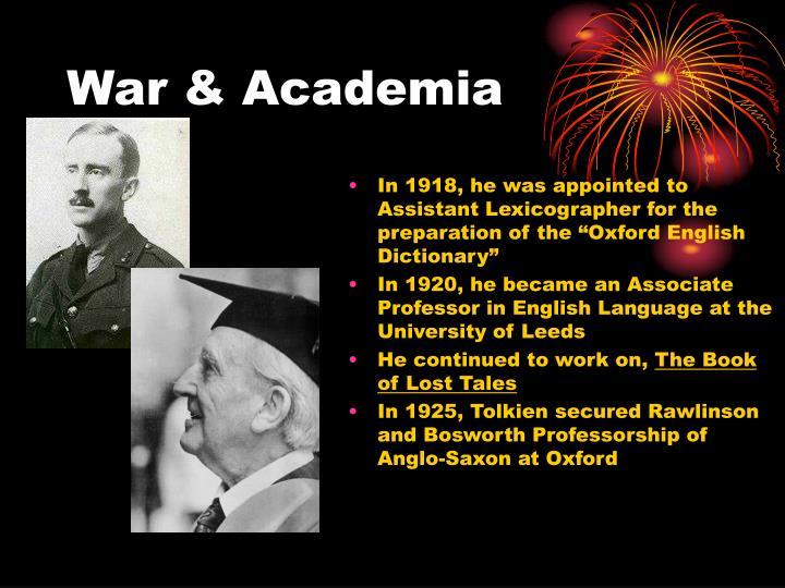 War & Academia