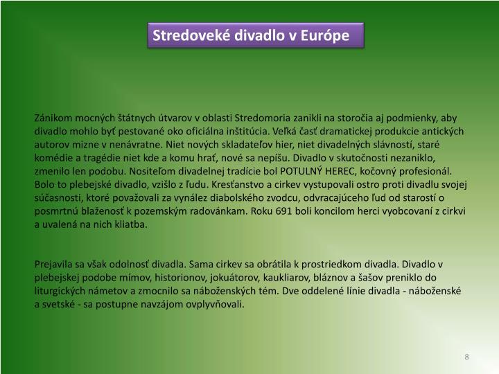 Stredoveké divadlo v Európe