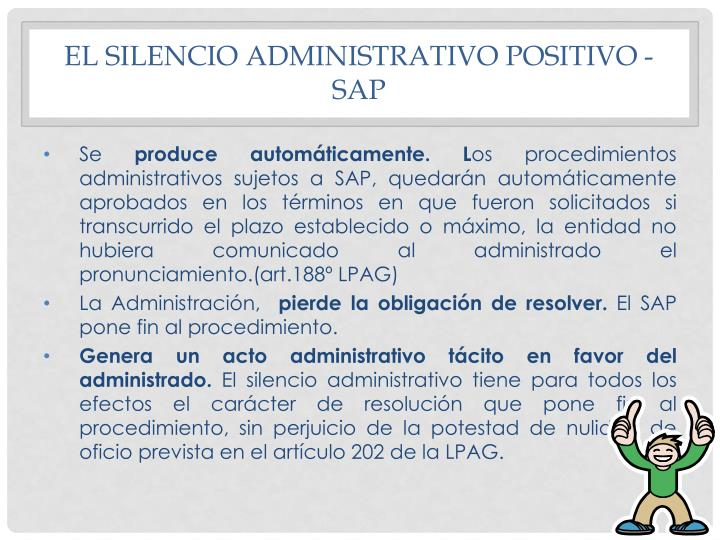 El Silencio Administrativo Positivo - SAP