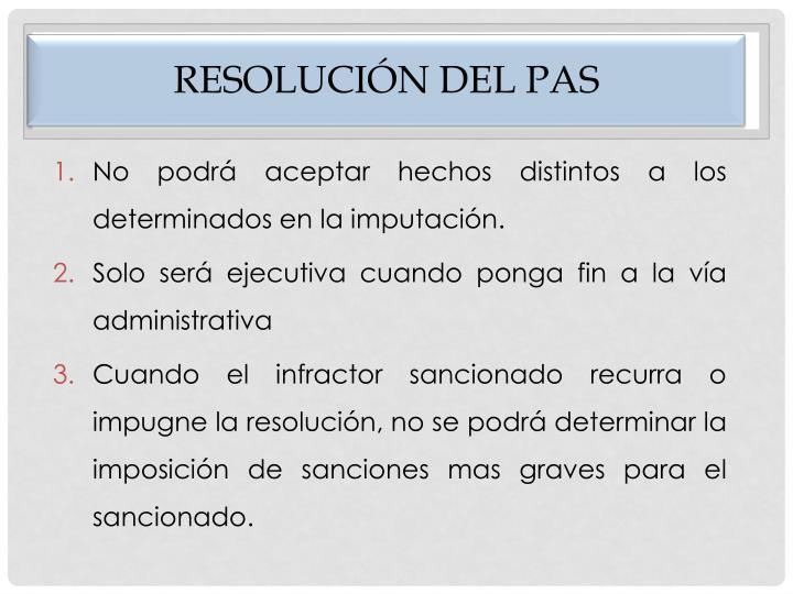 Resolución del