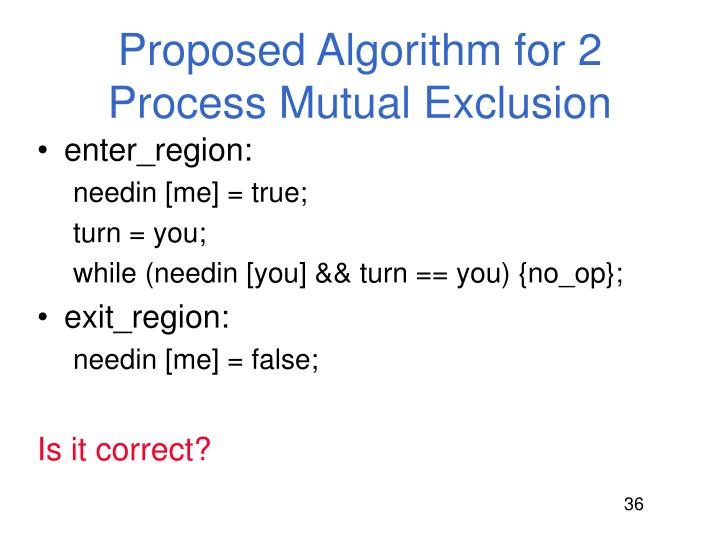 Proposed Algorithm for 2 Process Mutual Exclusion