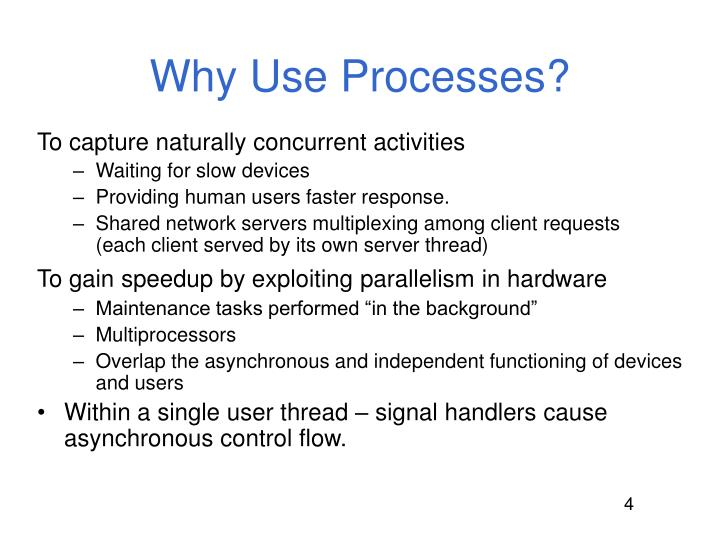 Why Use Processes?