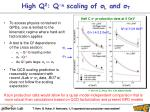 high q 2 q n scaling of l and t