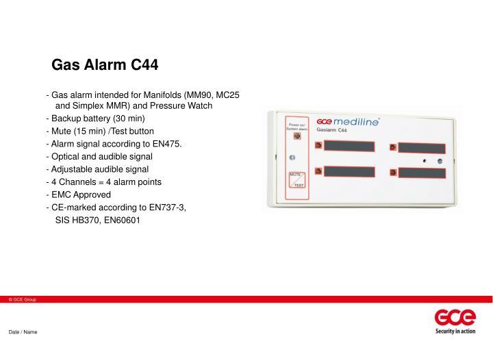 Gas Alarm C44