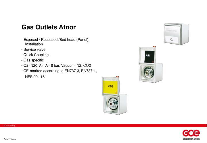 Gas Outlets Afnor