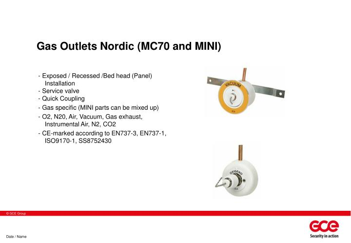 Gas Outlets