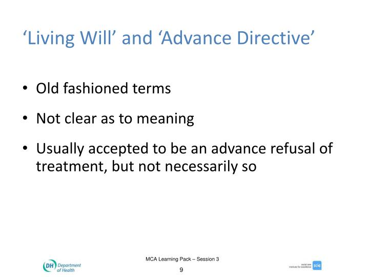 'Living Will' and 'Advance Directive'